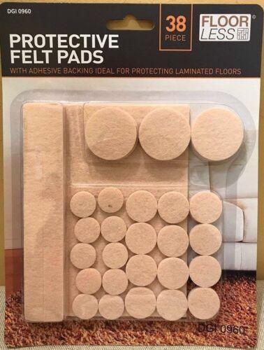 Felt Pads Protection Laminate Floor Furniture Anti Scratch Self Adhesive 38 Pcs