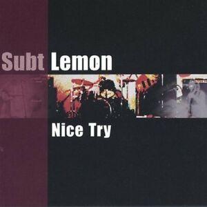 Subt Lemon-Nice Try CD   New