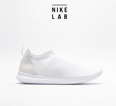 sí mismo talento Mutilar  Nike Gakou Flyknit Triple White Sz 8 Men's NikeLab QS Laceless Shoes  AA2018-101   eBay