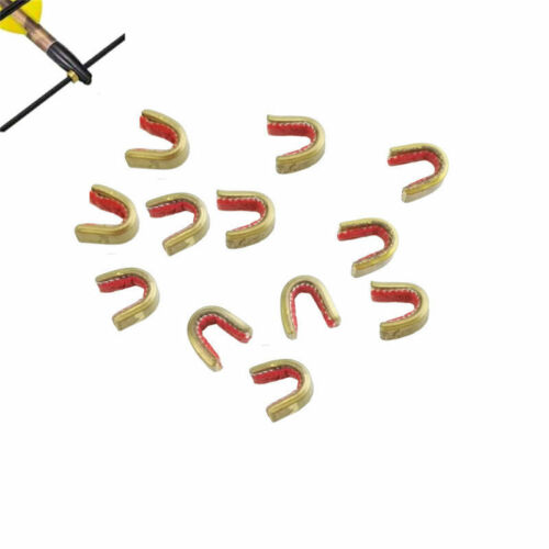 6X Archery String Nocking Points Brass Nock Buckle Clips Bow String Protect