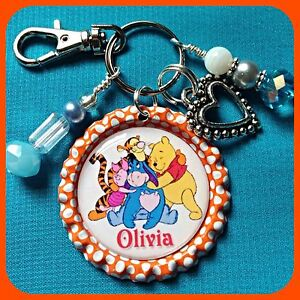 Personalized WINNIE THE POOH Bottle Cap Name Necklace ...