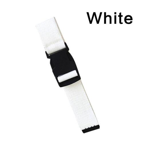 Fashion Women Men Canvas Belt Waist Belt With Plastic Buckle Waistband Long Belt