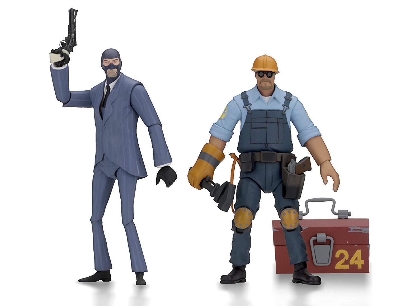 NECA 45075 Team Fortress 2 7  Scale Action Figure Series Bleu Lot de 2