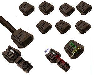 Cord Zip Zipper Loop Lock Bungee End Ends 3-4mm Rope Shock Two Fit Black Elastic