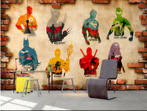 3D Heroes Union 77  Wall Paper Murals Wall Print Wall Wallpaper Mural AU Kyra