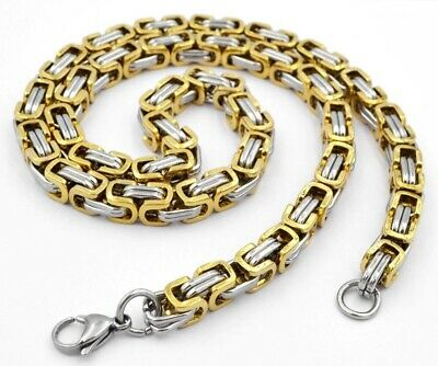 Königskette Königsarmband Edelstahl Massiv Byzantiner Halskette Herrenschmuck