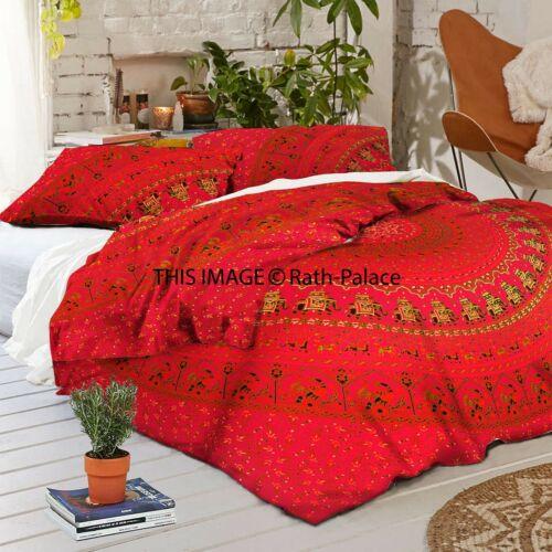 Indian Mandala Queen Size Bohemian Cotton Duvet Cover Hippie Doona Bedding Decor