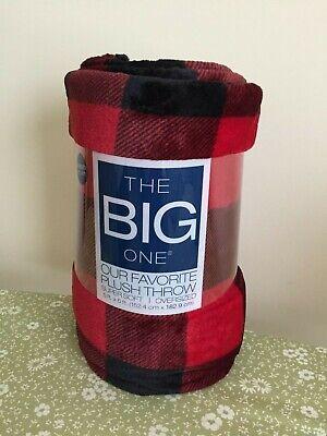 The Big One Oversized Plush Throw Blanket Blue Diamond Carve