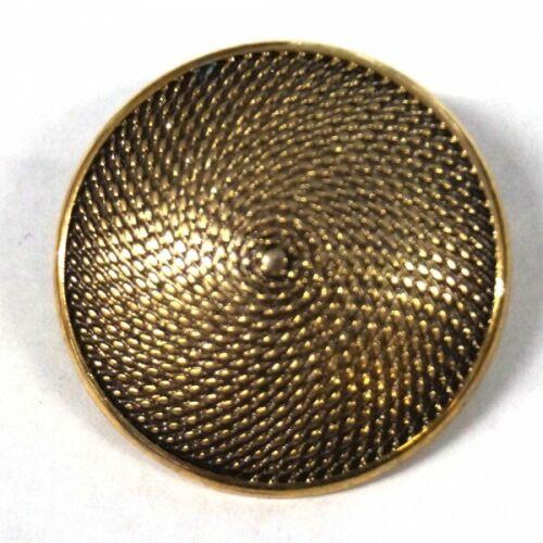 29 mm Texturé bouclier rond bouton en métal style antique