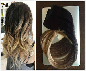 6a brazilian remy clip in human hair extensions ombre