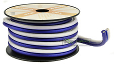 25 FT True 10 Gauge Awg Speaker Wire Pro Cable Blue White Car & Home Audio Spool