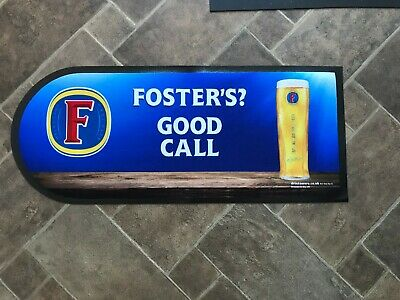 Home Bar Fosters Lager Bar Runner  Fabric and Rubber NEW Pub