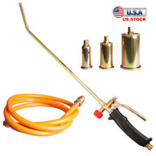 Self Igniting Propane Torch Weeds Burner Kit With 60 Hose 3 Nozzle Fire Starter