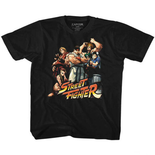 Details about  /Street Fighter Capcom Video Game Group Of Fighters Youth T Shirt 2T-YXL