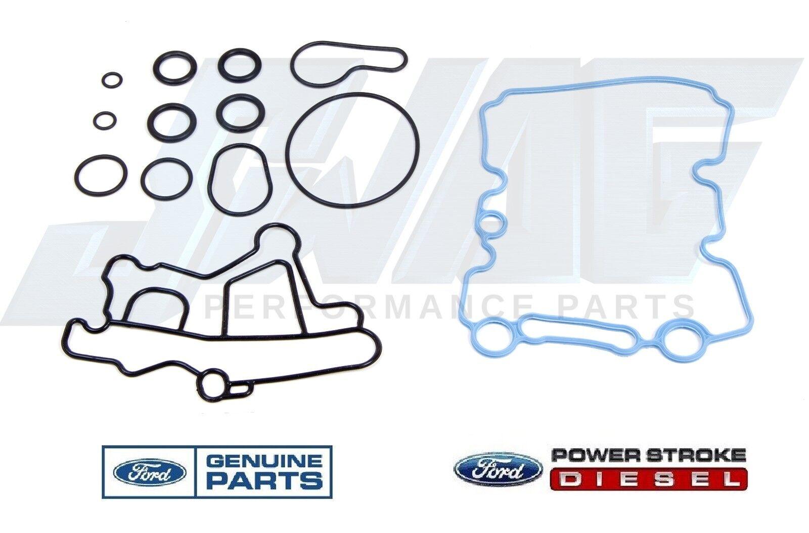 6.0L Powerstroke Diesel For Ford Oil Cooler Gasket Kit F250 F350 F450 F550 E350