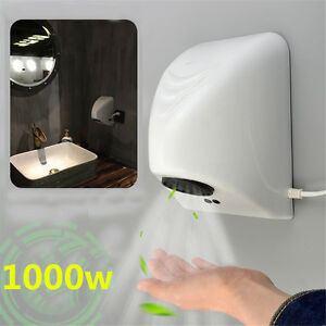 220v 1000w Powerful Wall Mounted Automatic Hand Dryer Bathroom Commercial White Ebay