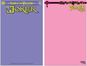 JOKER-1-PURPLE-HARLEY-QUINN-1-PINK-RARE-LIMITED-BLANK-COVERS-VALENTINES-DAY
