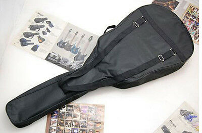 Double Strap No Padd Acoustic Guitar Bag Soft Case Backpack + 6pcs Guitar Picks