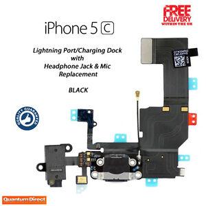NUOVO-ricambio-rapido-PORTE-DI-RICARICA-DOCK-assemblaggio-per-iPhone-5C-Nera