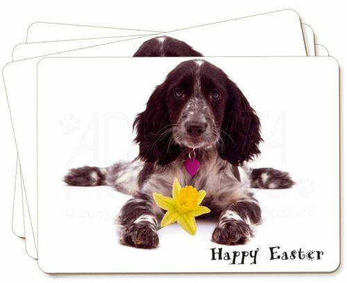 'Happy Easter' Cocker Spaniel Picture Placemats in Gift Box, ADSC13DA1P
