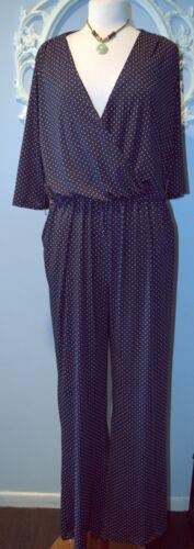 blu Rockabilly medio M a pois Louis Jumpsuit Pullover scuro Swing Robert Nwt TS0qTdw