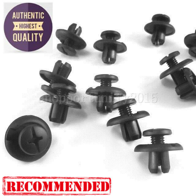 100Pcs//Set Durable Nylon Fastener Retainer Clip Hood Insulation for Honda Acura