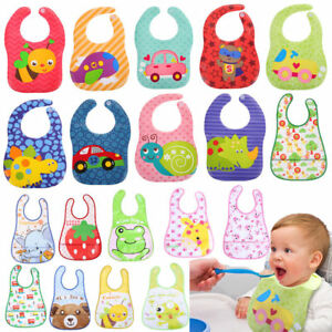 Baby-Kids-Infant-Animal-Toddler-Cartoon-Saliva-Towel-Waterproof-Lunch-Bibs