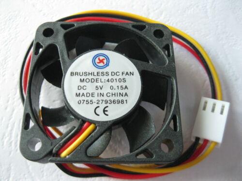 12 pcs Brushless DC Cooling Fan 7 Blade 5V 3pins 40x40x10mm 4010S Sleeve Bearing