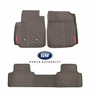 2015-2018 GMC Canyon Extended Cab Front /& Rear All Weather Floor Mats Cocoa OEM