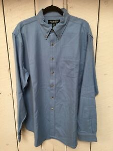 Brooks Brothers Country Club men's blue button down long sleeve shirt Size  XL/L