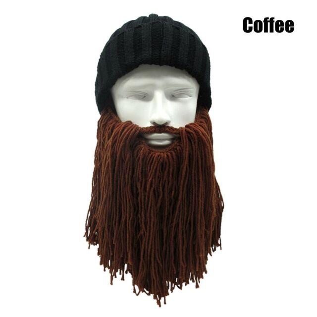 d1ddfc27b6248 Men Warm Wool Beanie Vinking Beard Face Mask Crochet Winter Ski ...