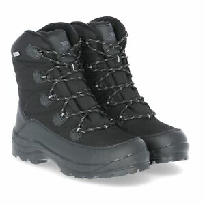 Trespass-Zotos-Waterproof-Mens-Snow-Boots-Breathable-in-Black