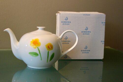 Dibbern Teekanne 1,3l Fine Bone China Impression Blume gelb
