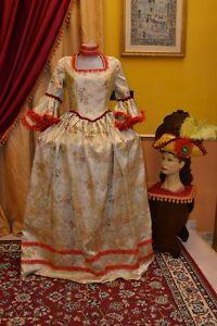Abito-Storico-Costume-di-Scena-Abito-d-039-Epoca-Costume-Storico-Stile-1700-cod-740