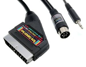 Sinclair-ZX-Spectrum-128K-amp-2-Grey-Model-RGB-Scart-Lead-Video-Cable-TV-Lead