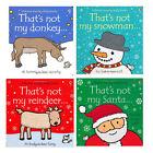 Fiona Watt Usborne Touchy-feely Collection 4 Books Set (that's Not My Santa) PB