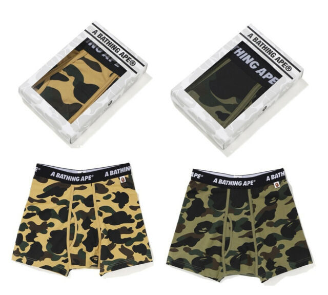 A BATHING APE Goods AAPE UNDER WEAR Boxer Pants Camo 3colors From Japan New