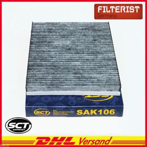 Sct-interior-filtro-Filtro-micro-polen-filtro-de-carbon-activado-VW-Caddy-II-Golf-III-IV