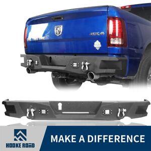 Hooke Road Steel Black Step Rear Bumper Bar Assembly Fit 09-18 Dodge Ram 1500