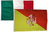 2x3 2'x3' Wholesale Combo Italy Italian & Sicily 2 Flags Flag