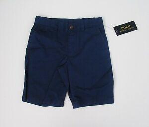 NEW-Ralph-Lauren-Polo-Blue-Flat-Front-Chino-Shorts-Adj-Waist-Sz-4-5-6-7-NEW-35