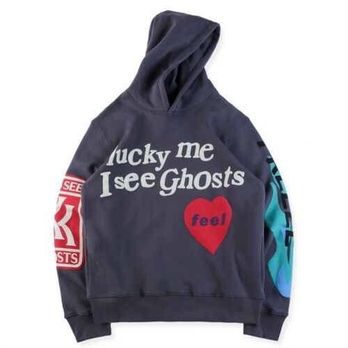 2019 NWT KSG FREEEE Kanye West Kid Cudi Kids See Ghosts Hoodie Camp Flog Gnaw