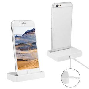 Details zu iPhone Dockingstation Ladestation für Apple iPhone 7 Plus in  schwarz oder weiß