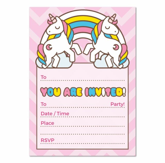 Pack Of 16 A6 Its My Birthday Invitations