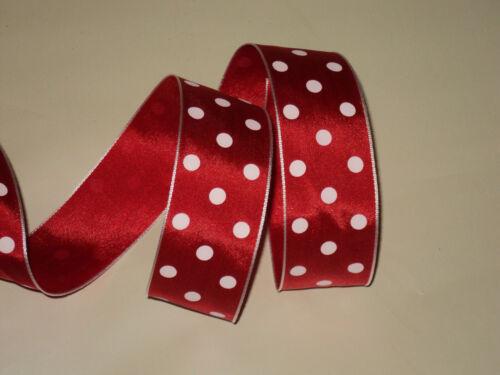 fiocchi decorativi Red /& White 1m A Pois A Pois Nastro artigianato fiocchi ROCKABILLY
