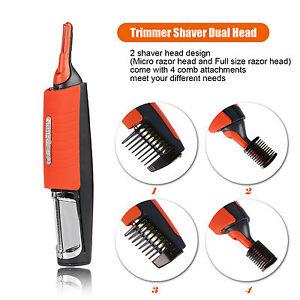 men 39 s nose ear face eyebrow neck hair beard trimmer shaver. Black Bedroom Furniture Sets. Home Design Ideas