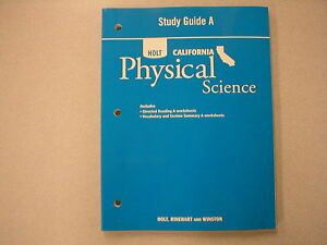holt california physical science study guide a new isbn 0030465338 rh ebay com California Holt Science Books Holt California Physical Science Safety Symbols