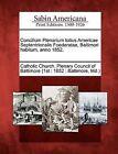 Concilium Plenarium Totius Americae Septentrionalis Foederatae, Baltimori Habitum, Anno 1852. by Gale, Sabin Americana (Paperback / softback, 2012)