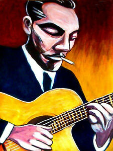 django reinhardt print poster gypsy jazz djangology cd. Black Bedroom Furniture Sets. Home Design Ideas