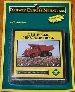 Railway-Express-Miniatures-N-2111-Euclid-Mine-Volquete-Luz-Fundido-Metal